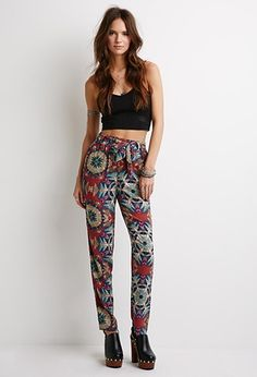Abstract Tribal Print Pants | Forever 21 - 2000097256