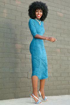 Curved Hem Midi Dress