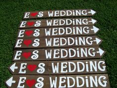 wedding signs XTRA LETTERS LARGE wedding by primitivearts on Etsy