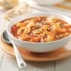 Seafood Cioppino-If you're looking for a great seafood recipe to create in your slow cooker, this classic fish stew is just the ticket. It's full to the brim with clams, crab, fish and shrimp, and is fancy enough to be an elegant meal.—Lisa DiPrima, Milford, New Hampshire  This recipe is:  Diabetic Friendly