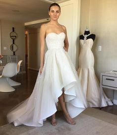 Cool New York Bridal Fashion Week Show new collection wedding dress designer bridal gown catwalk runway Inspiration New York Bridal Week Pinterest