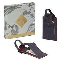 a182a090eb43f1 Ted Baker Set of 2 Luggage Tags Set Gifts For A Baker