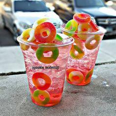"""""""Candied Watermelon Punch - 3 oz Dekuyper Pucker Island Punch Schnapps Liqueur, 1 oz Watermelon Rum, 1 oz Guava Rum, 1 oz Smirnoff Sours Watermelon Vodka ,…"""""""