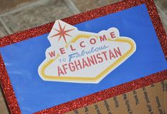 Care Package #1: Welcome to Fabulous Afghanistan -- #army #deployment