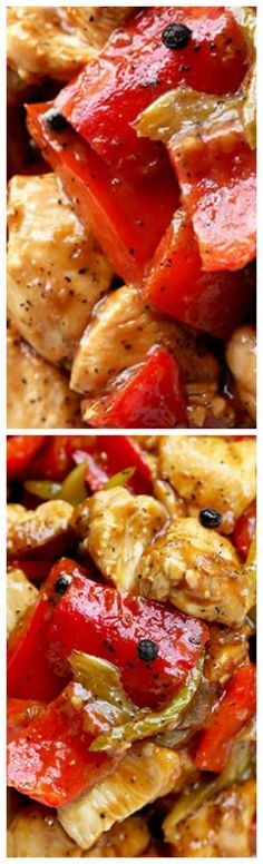 Black Pepper Chicken ~ Make this recipe at home in just 15 minutes… Homemade C… Black Pepper Chicken ~ Make this recipe at home in just 15 minutes… Homemade Chinese food is so much better and healthier than takeout! Chicken Recipes At Home, Recipes With Chicken And Peppers, Chicken Stuffed Peppers, Turkey Recipes, Homemade Chinese Food, Black Pepper Chicken, Asian, Fabulous Foods, Popular Recipes