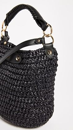 Diane von Furstenberg Mini Raffia Bucket Bag