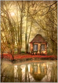 Can this be my inspiration cottage? River Cottage, Alsace, France photo by Jean-Michael Priaux River Cottage, Forest Cottage, Fairytale Cottage, Storybook Cottage, Forest House, Beautiful World, Beautiful Homes, Beautiful Places, Beautiful Scenery