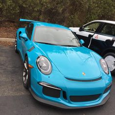 Porsche 991 GT3 RS painted in paint to sample Mexico Blue  Photo taken by: @gt3rs_mrpurple on Instagram