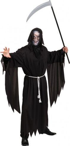 Hallowen-Kostüm: Sensenmann, Umhang mit Flatterärmeln, Einheitsgröße