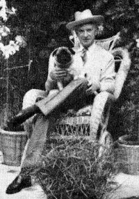 Cecil Beaton with Simba the pug