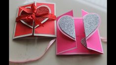 DIY Heart Greeting Card / Handmade Card Tutorial, - Sites new Simple Birthday Cards, Handmade Birthday Cards, Valentine Day Cards, Valentine Heart, Diy Birthday, Birthday Card Making, Valentines Greetings, Greeting Card Video, Hand Made Greeting Cards