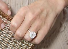 Cushion-cut diamond ring
