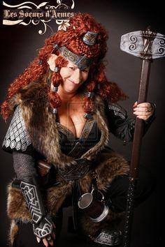 dwarf leather armor female woman by Lagueuse.deviantart.com on @DeviantArt