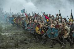 The Vikings were pagans and their funeral rituals were not guided by the mainstream religion and beliefs. Vikings believed that their death would lead them into an afterlife and into one of the Vikings nine realms Viking Warrior, Viking Battle, Anglo Saxon, Vikings Season 4, Vikings Tv, Vikings Lagertha, Valhalla, Archery, Norse Mythology
