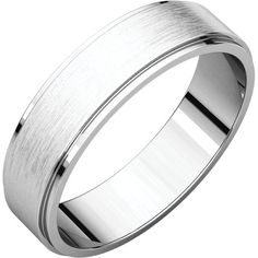 Men's 6mm Flat Edge Band