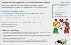 Picto Selector med symboler til billedstøttet kommunikation | Produkter | Viden og formidling