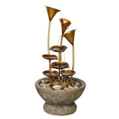 Beckett Watering Lily Pads Fountain-7234610 - The Home Depot