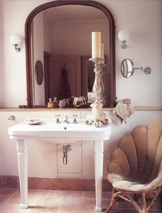 big pedestal sinks are the best (very nice chair too)