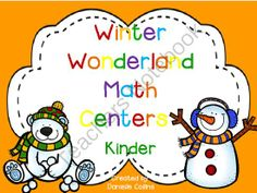 Winter Wonderland Kindergarten Math Pack (13 CCSS Centers) from CampWeWannaLearnAlot on TeachersNotebook.com (89 pages)  - 13 Math Centers perfect for winter Kinders. Adorable winter theme working on counting bys, place value, measuring, tallies, 10s buddies, addition, graphing, and time.