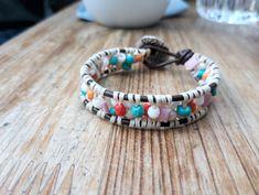 #beadedbracelet, #handmadebracelet, #handmadeaccessory, #accessory, #wrapbracelet, #leatherbracelet, #bracelet, #evapolart, #handmade Handmade Bracelets, Handmade Jewelry, Handmade Accessories, Beaded Jewelry, Jewels, Art, Art Background, Bijoux, Beading Jewelry