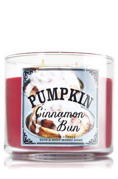 Pumpkin Cinnamon Bun 3-Wick Candle - Home Fragrance - Bath & Body Works