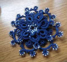 Tatted brooch from Poland by DorotaWalenciak on Etsy