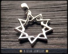 Sterling Silver 9 Star Baha'i Pendant by 9 Star Jewelry.