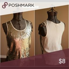 J. Crew party tank top This would be perfect with some slacks and a blazer! Dress up or down! J. Crew Tops Tank Tops