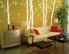 Decals - Birch Forest (try and imagine in black, white & grey)