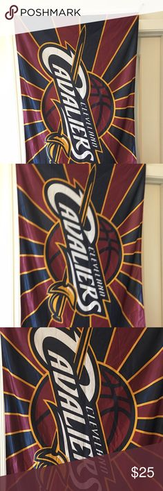 NBA Cleveland Cavaliers official team flag 27x42 Thank you for viewing my listing, for sale is an NBA, Cleveland Cavaliers, official team flag  / fan flag. 