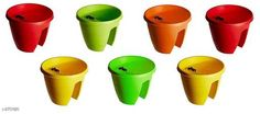 Artificial Flowers and Plants Railing Pots & Planter, Flower Pots Material : Plastic Size (H x W x D): 12 in x 12 in x 11 in  Description : It Has 7 Pieces Of  Railing Pots & Planter, Flower Pots Sizes Available: Free Size *Proof of Safe Delivery! Click to know on Safety Standards of Delivery Partners- https://ltl.sh/y_nZrAV3  Catalog Rating: ★4.2 (3033)  Catalog Name: Trendy Lovely Flower Pots Vol 2 CatalogID_372993 C127-SC1610 Code: 7511-2751820-