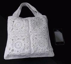 ♥ Mimos de Mãe ♥: Mala branca de crochet