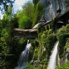 Waterfall Walkway, St. Beatus Caves, Switzerland | Incredible Pictures