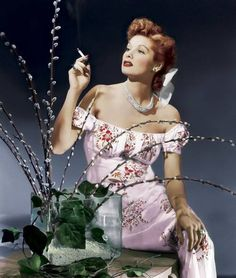 I love Lucy in this soft, feminine shade of pink, it goes so strikingly with her red locks.