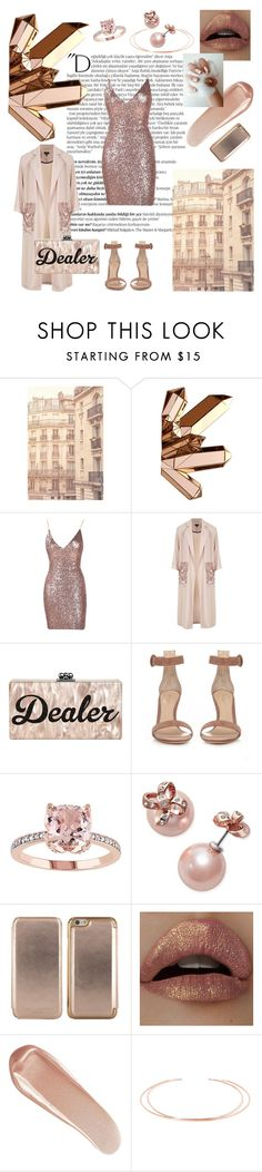 """""""Trap Queen"""" by sendorable ❤ liked on Polyvore featuring Balmain, WALL, Topshop, Gianvito Rossi, Kate Spade, Ted Baker, NARS Cosmetics, Aamaya by Priyanka and OPI"""