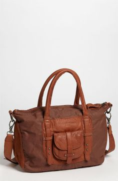 Liebeskind 'Victoria' Satchel $178 at Nordstrom (reasonable price, but it's canvas and leather not just leather).