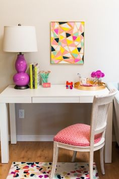 Color! http://www.stylemepretty.com/living/2015/03/19/30-of-the-prettiest-offices-ever/