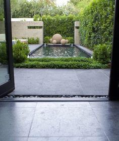 small reflecting pool