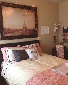 My Girl's Cozy Room at College.  #pbteen #colleenrothschild #dorm #decor #ideas