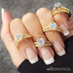 Love My Romance #EngagementRings in #Gold #Diamonds #MarryMe #SayYes