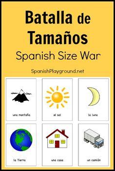 Printable Spanish Game: Batalla de Tamaños - Spanish Playground