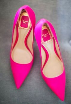 Hot Pink Christian Dior Pumps ~ 50 Ultra Trendy Designer Shoes For 2014 - Style Estate - Christian Dior, Christian Louboutin, Hot Pink Heels, Pink Shoes, Cute Shoes, Me Too Shoes, Crazy Shoes, Dream Shoes, Beautiful Shoes