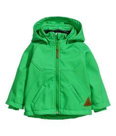 subtle striped green soft shell jacket