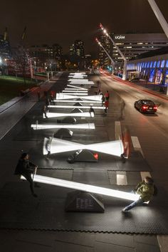 A team of Canadian designers and artists has created Impulse, an installation of 30 seesaws transforming the Place des Festivals in Montréal into a vast illuminated playground. Click image for link to full story and visit the slowottawa.ca boards >> http://www.pinterest.com/slowottawa/