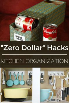 You don't need unlimited funds to put a stopper on overflowing kitchen cabinets. These 11 DIYs can transform even the most cluttered cupboard into an organizational oasis—all with near zero cost, time, or effort.