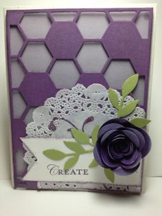 Hexagon Hive Spiral Flower Card
