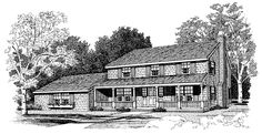 Farmhouse House Plan with 2095 Square Feet and 4 Bedrooms(s) from Dream Home Source   House Plan Code DHSW10694