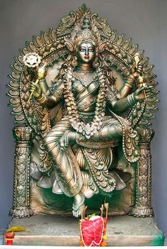 Siddhidatri is the ninth form of Goddess. She is worshipped on the ninth day of Navaratri. Siddhidatri has supernatural healing powers. She has four arms and she is always in a blissful happy enchanting pose. She rides on the lion as her vehicle. She blesses all Gods, saints, yogis, tantrics and all devotees as a manifestation of the Mother Goddess.  photo credit: 2010 Arnab Dutta