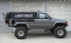 4runner soft top? Toyota Pickup 4x4, Toyota Trucks, Jeep 4x4, Mini Trucks, Cool Trucks, 4x4 Trucks, 1st Gen 4runner, Truck Accesories, Truck Bed Camper