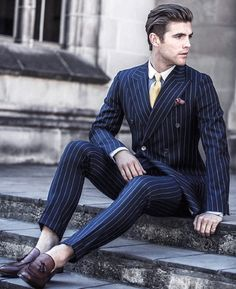 Men Suit 2 Pieces Double Breasted Suits Navy Striped Tuxedo Wedding Suits for Men Slim Fit tuxedos (Jacket+Pants) Tuxedo Wedding Suit, Groom Tuxedo, Wedding Suits, Dress Wedding, Wedding Tuxedos, Wedding Dinner, Casual Wedding, Party Wedding, Traje Slim Fit
